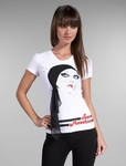 Lady with Pony Tee in White
