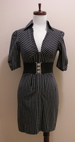 Authentic Shirt Empire Fitted Dress In Sz XS