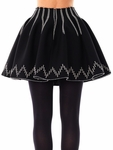 Glacier wool skater skirt