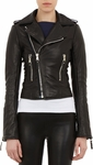 Black Lambskin Leather Moto Jacket