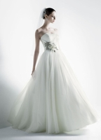 Ball Gown Featuring 3D Floral Details