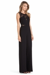 BCBGMAXAZRIA Black Laden Jumpsuit