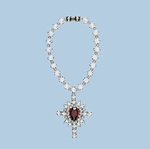 Big Dipper Crystal Cross Necklace