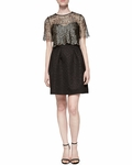 Black Addison Mosaic Jacquard Dress - 4.10