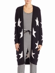 Black 'alba' Star Knit Cotton Blend Cardigan - 5.24