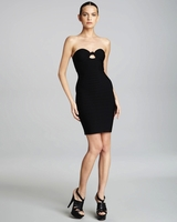 Black Bandeau Bandage Dress