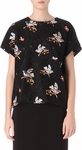 Black Bird Embroidered Lace Top
