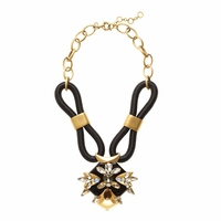 Black Corded Statement Necklace