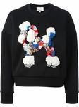 Black Embroidered Poodle Sweatshirt