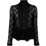 Black Laced Sheer Blazer (On Sale)