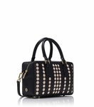 Black Lily Mini Square Satchel