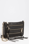 Black Mini 5-Zip Shoulder Bag - 3.17