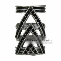 Black Pave Chevron Ring