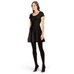Black Shea Knit Fit And Flare Dress - 4.19