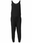 Black Soft Twill Sleeveless Jumpsuit - 4.14