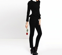 Black Stacey Slim Pant