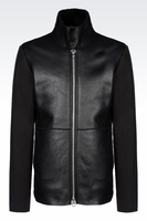 BLOUSON IN SHEARLING AND TECHNICAL FABRIC