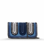 Blue Falabella Zigarette Cross Body Bag - 7.3