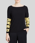Boutique Moschino Chain Print Top - 7.26