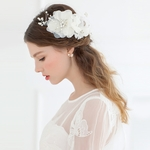 Bridal White Flower Headpieces (3 Pieces)