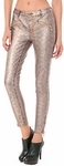 BUFFALO DAVID BITTON Fabella Skinny Coated Snake Jean gold snake print