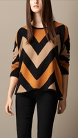 Orange Zigzag Cashmere Sweater