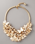 Butterfly Layered Statement Bib Necklace - 5.2