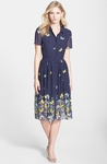 Butterfly Print Fit Flare Shirtdress - 5.20
