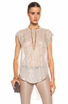 By Malene Birger Beige Ornella Silk-blend Top - 4.30