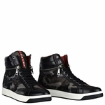 Camo-Print Nylon Zip-Side Sneaker - 9.10