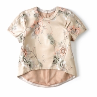 Cherry Blossoms Embroidery Blouses