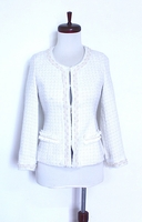 Classic Tweed White Beaded Jacket