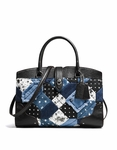 COACH Canyon Quilt Denim Mercer Satchel - 4.15