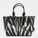 CROSBY carryall in zebra print leather