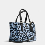 Crosby Mini Carryall In Ocelot Print Crossgrain Leather