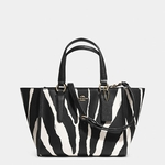 Coach CROSBY mini carryall in zebra printed leather - 3.15