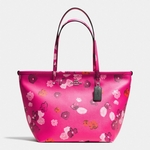 COACH STREET ZIP TOTE IN FLORAL PRINT CANVAS - 4.25