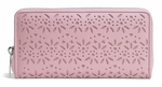 Taylor Eyelet Shell Pink Leather Accordion Zip Around Wallet