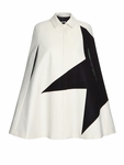 Contrast star wool-blend cape - 9.20