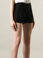 DIANE VON FURSTENBERG Black Naples Lace Shorts