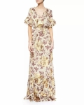 Diane Von Furstenberg Jane Floral-Print Long Dress - 6.6