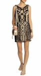 DIANE VON FURSTENBERG Neapoli metallic macrame mini dress - 3.21