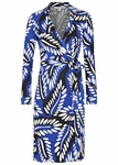 Diane von Furstenberg New Jean 2 Print Silk Jersey Wrap Dress - 4.20