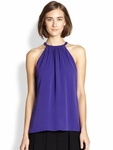 Diane von Furstenberg Purple Pania Sleeveless Silk Blouse - 5.3
