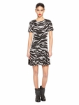 DRESS WITH PLEATED SKIRT - 5.22
