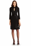 DVF China Short Wool Wrap Dress - 9.22