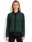 Elie Tahari Mona Colorblock Silk Blouse - 5.1