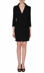 ELISABETTA Black Short Dress (On Sale)