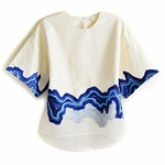 Embroidered Georde Long Sleeve Top