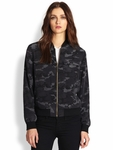 Equipment Black Abbot Bomber Jacketcamo